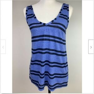 Michael Stars Women's Top XS Blue Navy Stripe Tank